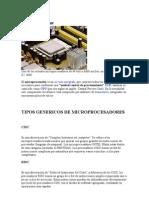 Tipos Genericos de Microprocesadores