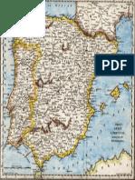 Iberian Peninsula Antique Map