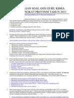 Pembahasan Soal Osn Guru Kimia 2013
