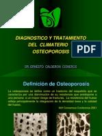 Dx y TX Climaterio y Osteoporosis