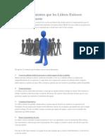 12 Comportamientos que los Líderes Exitosos tienen Diariamente