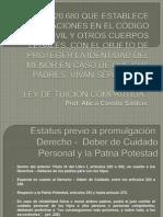 Proyecto de Ley Modificacion Cuidado Personal