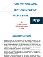 Project - Viva on financial analysis of indian bank