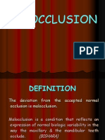 Classification of Malocclusion