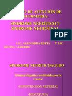 Sindrome nefròtico y nefrìtico
