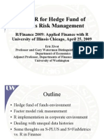 Using R for Hedge Fund