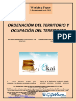 ORDENACIÓN DEL TERRITORIO Y OCUPACIÓN TERRITORIAL