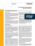 Colectores Solares SUNNYDAY - Manual de Instrucciones