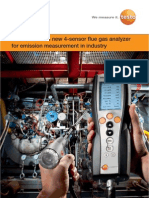 Testo 340 - The new 4-sensor flue gas analyser for emission measurement industry