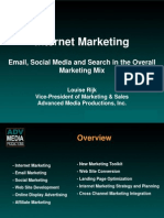 email social media and search in the overall marketing mix.ppt