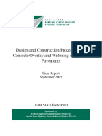 Design and Construction Procedures for Concrete Overlay