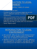 Introduction to Legal Environment