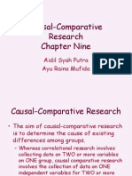 Chapter Nine Causal - Comparative Researcher