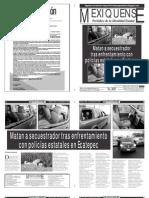Versión impresa del periódico El mexiquense  4 septiembre 2013
