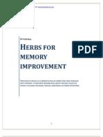 Best Herbs for Memory Improvement