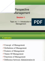 PM Lecture Topic 1
