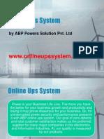 Online Ups System Delhi