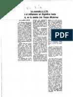 Desde El Militarismo en Argentina Hasta Borges, En La Revista Les Temps Modernes