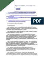 Reglamento del Sistema Nacional de Inversión Pública