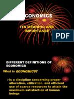 1a.definition of Economics