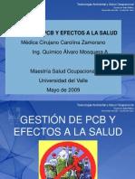 Bifenilos Policlorados (Pbc) y Efectos en La Salud Ing. Alvaro Mosquera Dra Carolina Zamorano