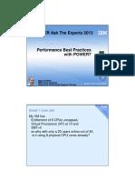 Power AskTheExpert 2013 POWER7 Performance NigelGriffiths