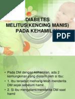 Diabetes Melitus(Kencing Manis) Pada Kehamilan
