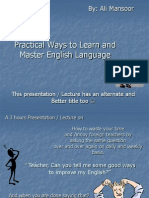 Practical Ways to Learn and Master English Language