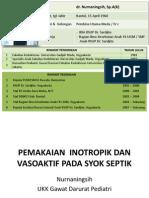 Dr. Nurnaningsih Pemakaian Inotropik Dan Vasoaktif Pada Syok Septik