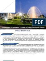 Infinity Consultants MDP on Islamic Banking