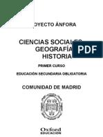 Programación Anfora Ciencias Sociales Geografia e Historia 1 ESO