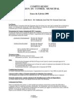 Mignovillard - Compte rendu du Conseil municipal du 11 février 2008