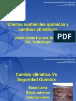 Efectos Sustancias Quimica y Cambio Climatico Dra. Judith Pardo h.