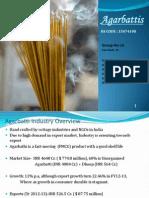 Agarbatti- Incense Export Prospect