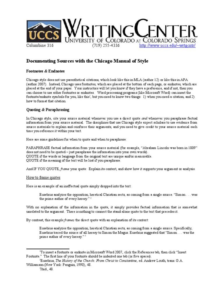 chicago citation and document citation publishing rh scribd com MLA Citation Style Citation Style Guide