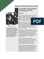 Estudios sobre la justicia América colonial