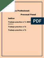 Prac.prof.Procesal Penal - Indice Trabajos