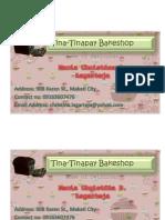 Tinabusiness Card