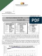 Nouveaux Indices des prix à la consommation - Novembre 2011 (INSTAT - 2011)