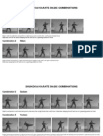 Traditional Shukokai Karate Basic Combinations