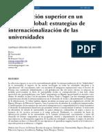 Santiago Iñíguez de Onzono - La ES en un entorno global, estrategias de internacionalización de las universidades