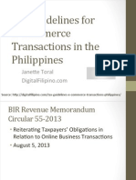 Tax Guidelines for E-Commerce Transactions in the Philippines