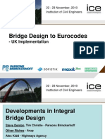 Bridge Design to Eurocodes - Integral Bridge