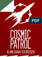 Cosmic Patrol Blank Dossier
