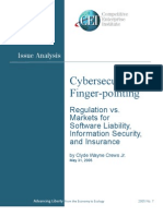 Wayne Crews - Cybersecurity Finger Pointing, Regulation vs Markets for Liability, Security and Insurance, Competitive Enterprise Institute Issue Analysis, 2005