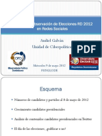 Balance de Observacion de Elecciones RD 2012 en Redes Sociales
