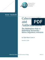 """Wayne Crews, """"Cybersecurity and Authentication"""