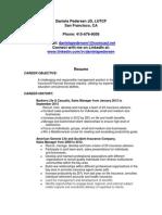 Insurance Executive Financial Services in San Francisco CA Resume Daniela Pedersen
