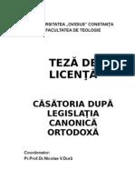 Model Licenta Finala Teologie