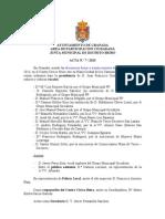 Acta de la Junta Municipal de Distrito Beiro Julio 2013